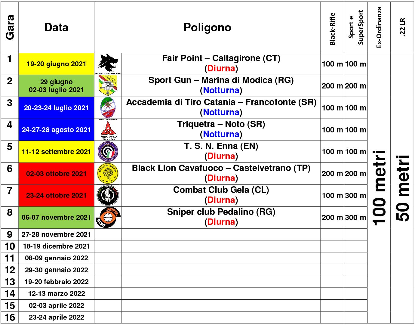 Calendario sesto campionato1